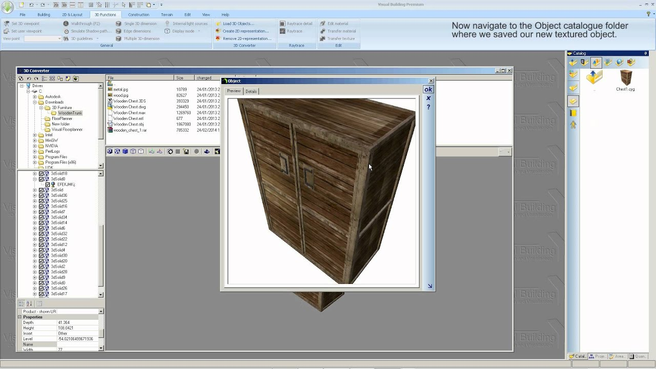 Visual building tutorial 3d object converter youtube for 3d object editor