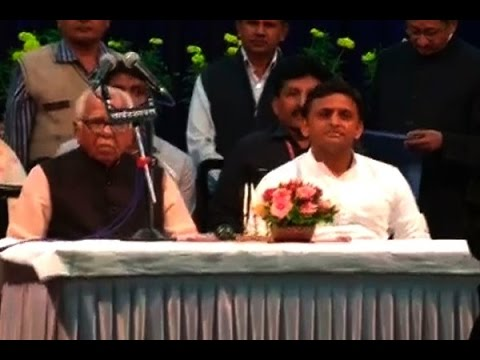 Swearing-in ceremony of 11 new ministers in Akhilesh's Cabinet Of Ministers took place in