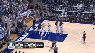 Utah State vs. BYU Highlights (02/19/13)