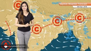 [Hindi] 8 अप्रैल मौसम पूर्वानुमान: बिहार, उत्तर प्रदेश, झारखंड, छत्तीसगढ़ में बारिश