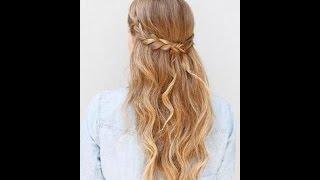 Причёска за 5 минут для средних волос.Как сделать начёс? Катя Клэп(Лёгкий начёс с плетением кос!!!!:)), 2016-08-12T23:33:40.000Z)