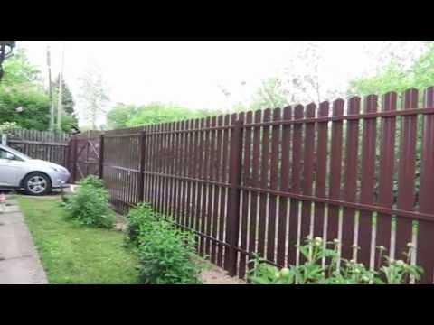 Забор Из Металлического Штакетника | Рецепт Красивого Забора