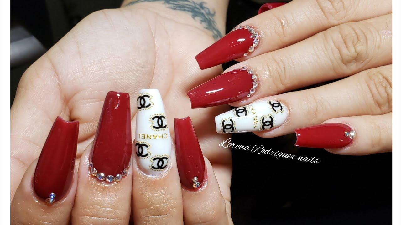 Channel Nails Decoracion Para Uñas Muy Elegante Uñas Acrílicas Esculturales