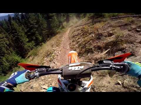 Don't Look Down, the River is a long way from up here -  KTM 250 XC