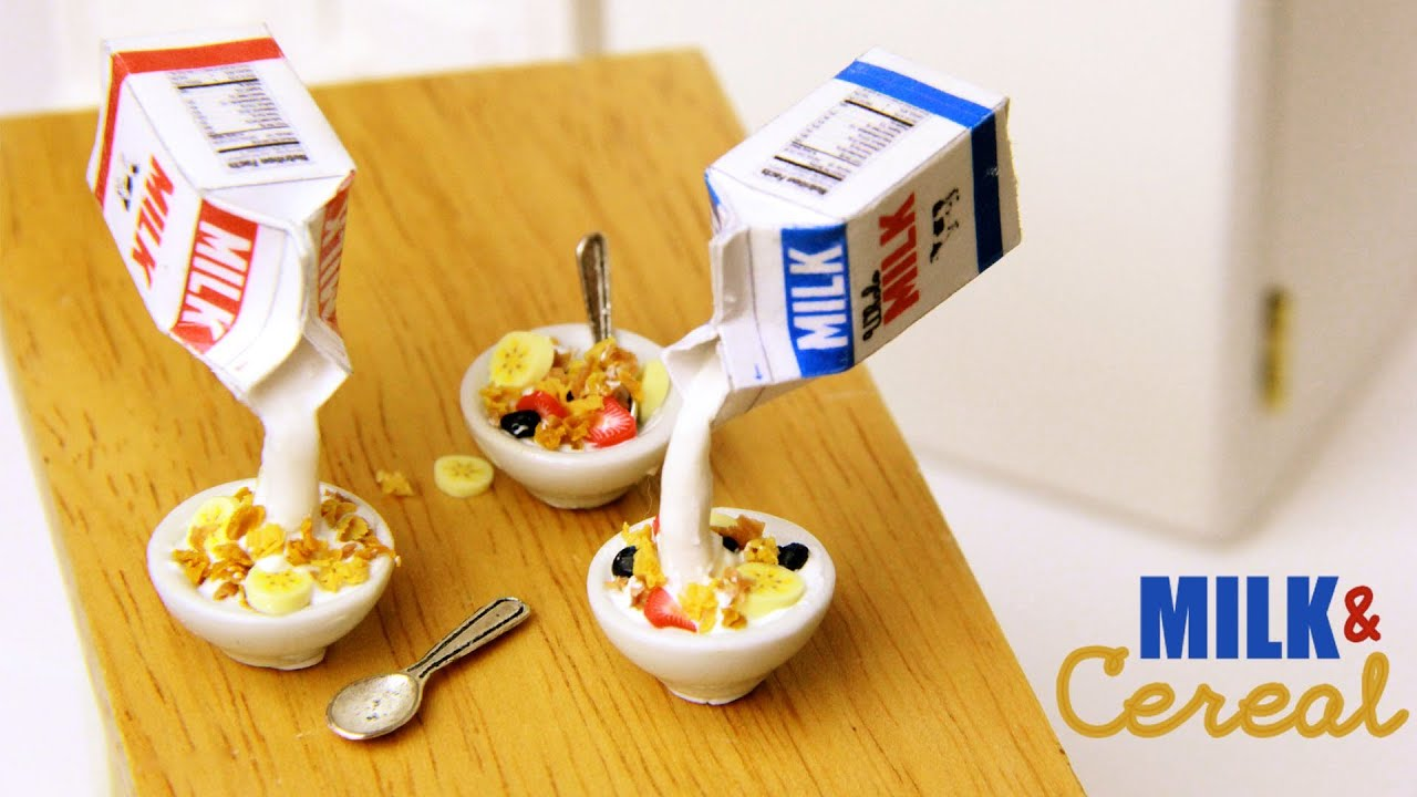 Milk cereal clay breakfast tutorial youtube ccuart Choice Image
