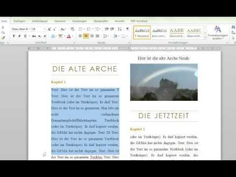 Zeitung Schon Schreiben Word 2010 Youtube