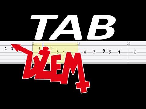🎸 Wehikuł czasu (Dżem) - łatwa melodia TAB (gitara) 🎸