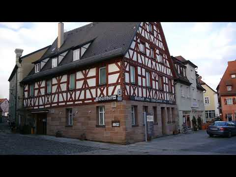 D: Schwabach. Bavaria. Sights and Sounds of the City Center. December 2017