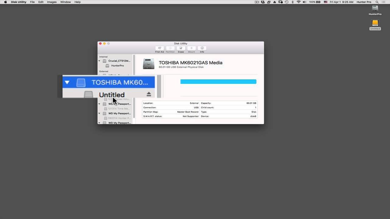 Mac OS X El Capitan: Format Backup Drive with Disk Utility
