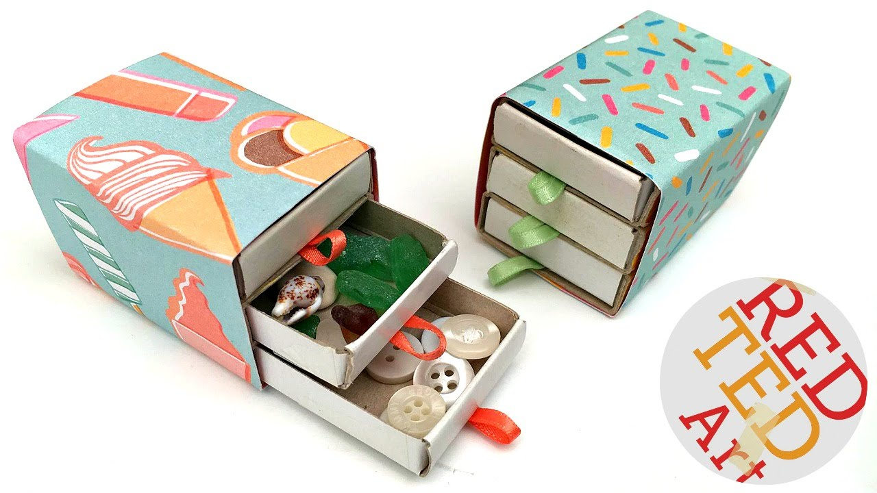 Easy Matchbox Drawers Jewelry Drawers Sewing Set