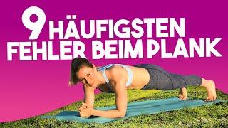 9 häufigsten Fehler beim Plank | Unterarmstütz für Anfänger zum Abnehmen | VERONICA-GERRITZEN.DE
