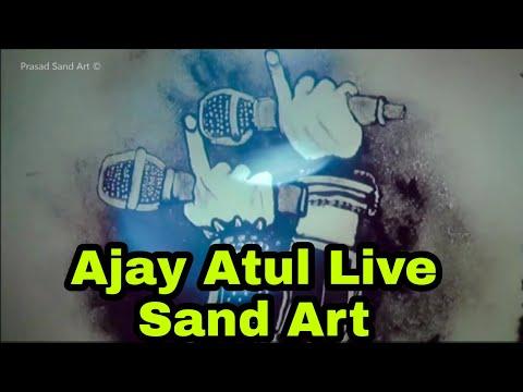 Ajay Atul | Live in Concert 2017 | Sand Art by Prasad Sonawane | Sairat | Sand Artist Pune