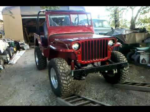 1945 willys mb jeep 4x4 restored with some added touches youtube. Black Bedroom Furniture Sets. Home Design Ideas