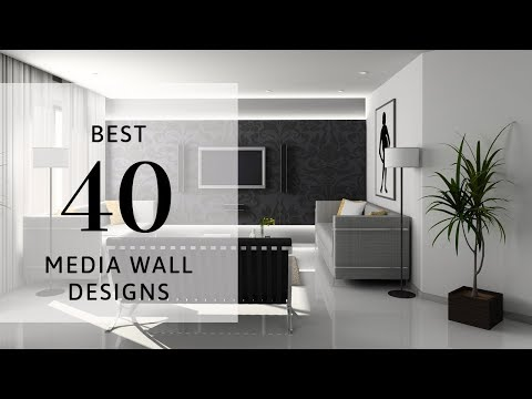 Best 40 Media Wall Designs 2019 | Living Room | Wall Cabinet | TV Wall