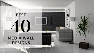 Best 40 Media Wall Designs 2019 | Living Room | Wall Cabinet | TV Wall