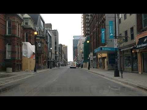Driving around downtown Halifax