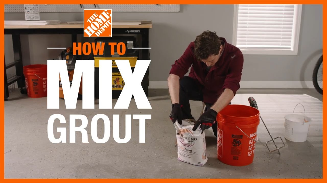 How To Mix Grout The Home Depot