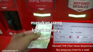 Download Video How to buy Jakarta commuter train ticket using vending machine C-VIM MP3 3GP MP4