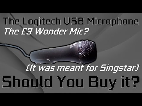 Using a PS2 Singstar Microphone in 2017 // A Review & Test of the £3 Microphone