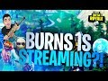 Burns Is Back And Streaming!! (Fortnite Twitch Highlights)