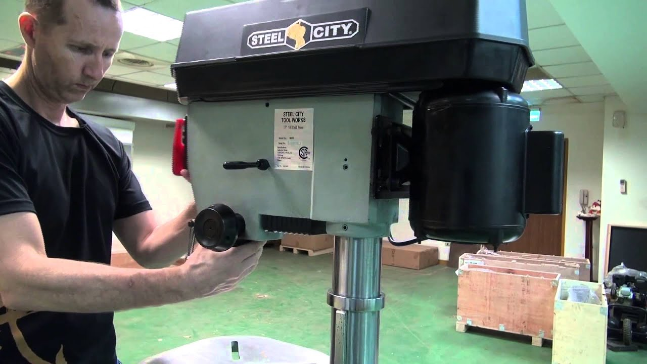 "17"" Drill Press: 17"" Variable Speed Drill Press Assembly Steel City 20525 - YouTube"