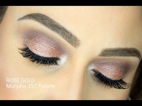 Rose Gold Makeup Tutorial | Morphe 35T Palette