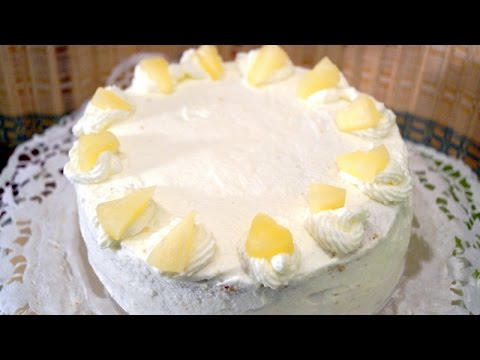 Pineapple Fresh Cream Cake (Easy steps with Tips) - in Tamil