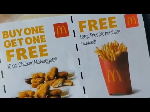 MCDONALDS FREE FOOD WITH COUPON