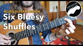 Six Bluesy Shuffles - A Rhythm Guitar Lesson