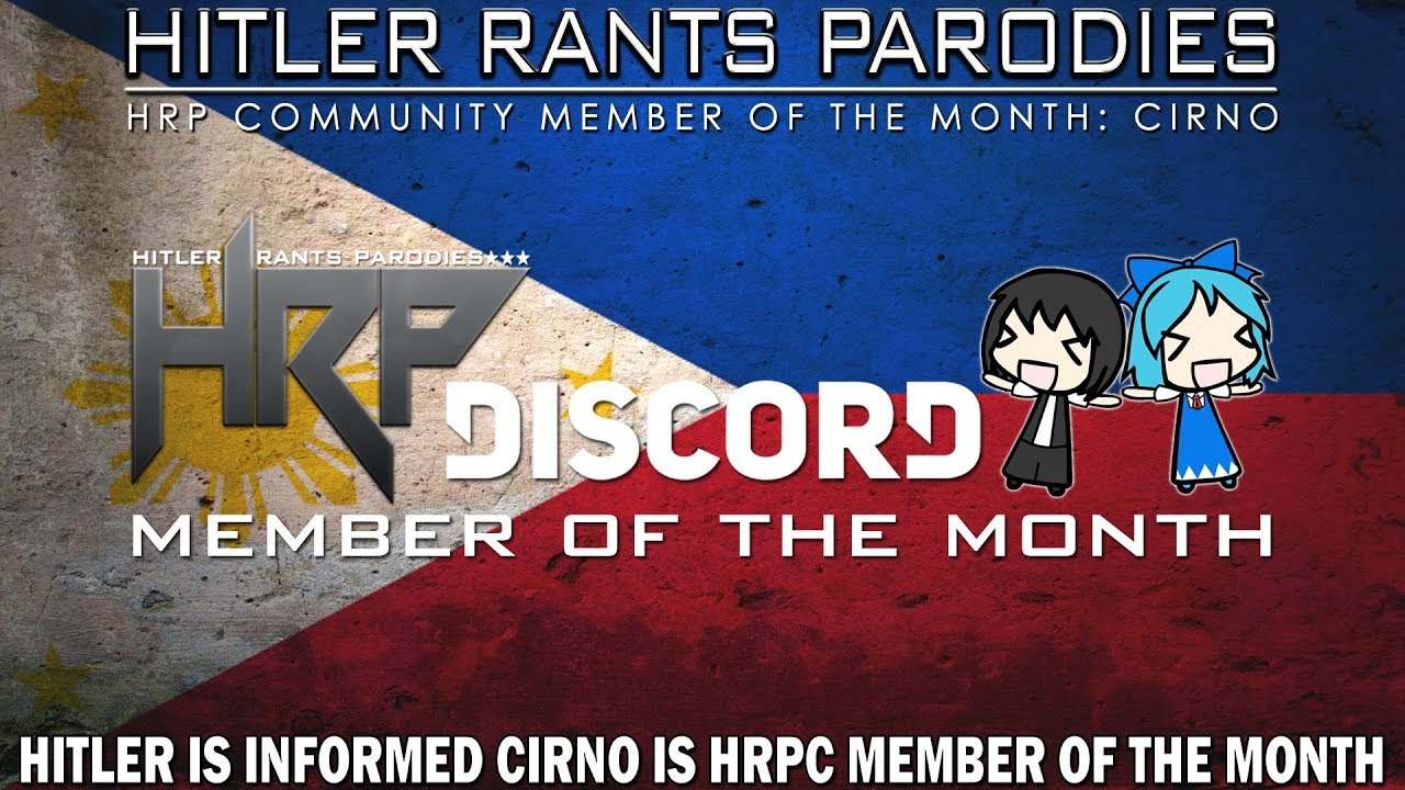 Hitler is informed Cirno is HRPC Member of the Month