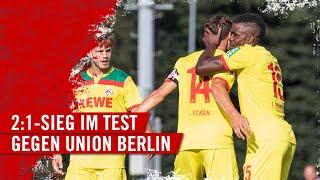 Noah katterbach und jhon cordoba trafen beim testspielsieg des 1. fc köln gegen den union berlin. für #effzeh war es der fünfte sieg im fünften tes...