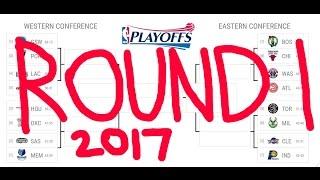 NBA Playoffs Predictions Round 1 (2017)