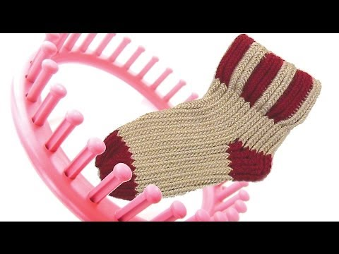 How to knit a sock on a round knitting loom socks