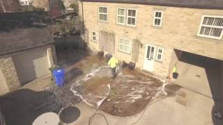 Patio cleaning Yorkshire contract cleaning