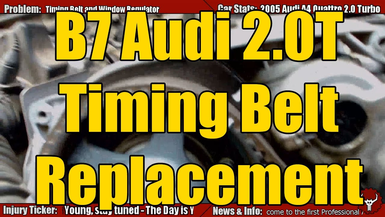 2005 Audi B7 A4 Timing Belt Replacement Guide Youtube Vw 2 0 L Engine Diagram