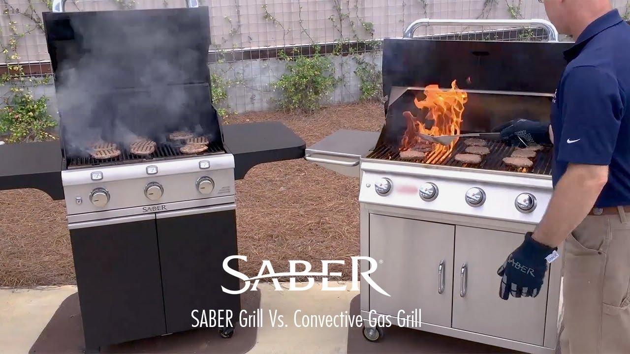 Weber Elektrogrill Vs Gasgrill : Saber grill vs convective gas grill grill comparison youtube