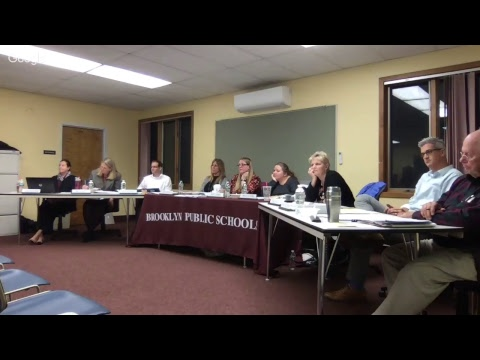 Brooklyn Board of Education - November 2017 Monthly Meeting