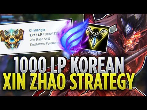 Tarzaned | 1000 LP KOREAN XIN ZHAO STRATEGY!! - CHALLENGER JUNGLER!