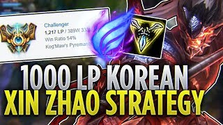 Tarzaned  1000 LP KOREAN XIN ZHAO STRATEGY - CHALLENGER JUNGLER