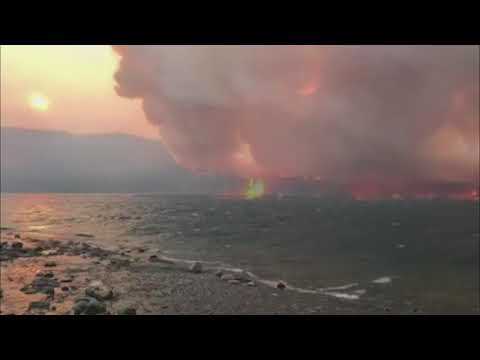 Video Shows Wildfire Raging in Montana