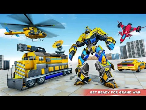 Download Train Robot Transform Game 2021: Robot Train Mission Destroy Enemies - Android Gameplay