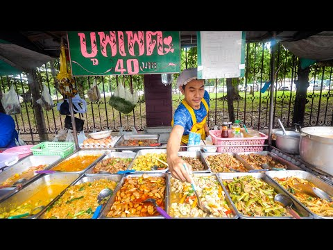 $1.29 Buffet - ALL YOU CAN EAT Thai Street Food in Bangkok,