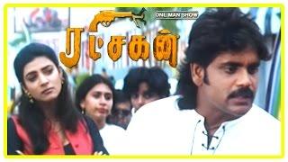 Ratchagan Tamil Movie Scenes | Sushmita Sen tricks Nagarjuna | Nagarjuna chases Sushmita Sen