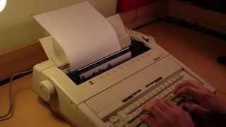 Brother AX-15 electric typewriter