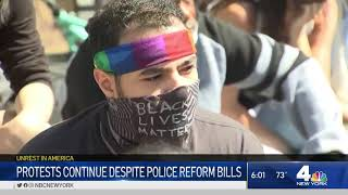 New York City Protests Continue After Passage of Police Reform Bills   NBC New York