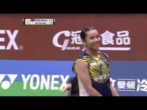 Yonex Open Chinese Taipei 2016 | Badminton F M3-WS | Wang Shixian vs Tai Tzu Ying