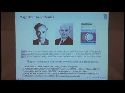 Colloquium, March 30th, 2017 --  Photonic Topological Physics in Two and Three Dimensions
