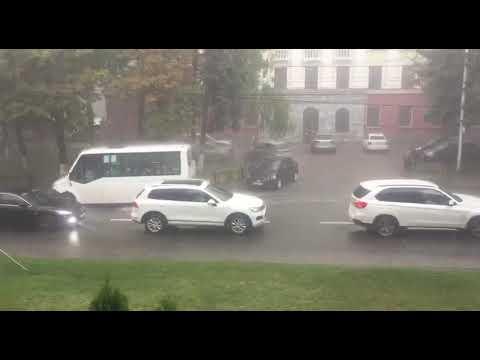 Мощный ливень обрушился на Ставрополь