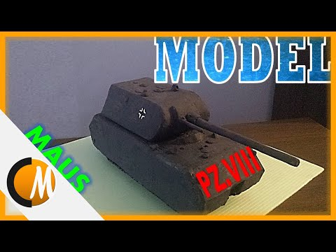 How to make Maus tank model || Military models #2
