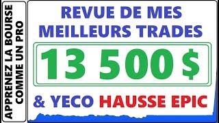 REVUE DE MES MEILLEURS GAINS DE LA SEMAINE AVEC DES 13 500$ PROFIT AVEC ACBFF CREG YECO +1000% ETC.